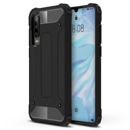 Military Defender Heavy Duty Shockproof Case for Huawei P30 - Black